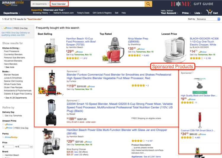 amazon seo strategy product placement