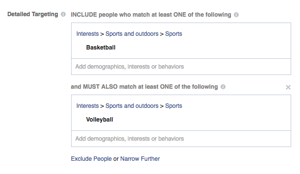bigcommerce facebook remarketing interests exclusions