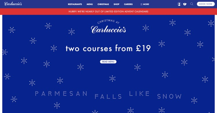 wordpress ecommerce Carluccios