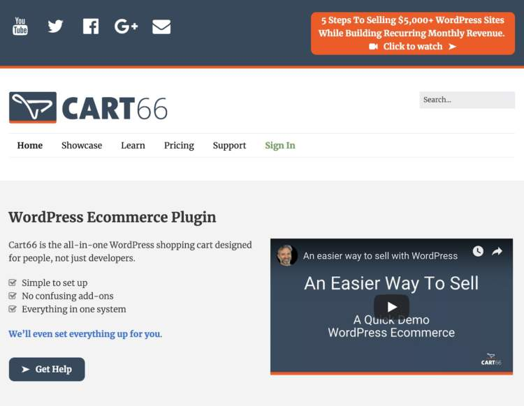 wordpress ecommerce plugins cart66