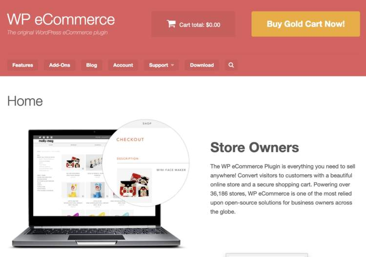 wordpress ecommerce plugins wp ecommerce