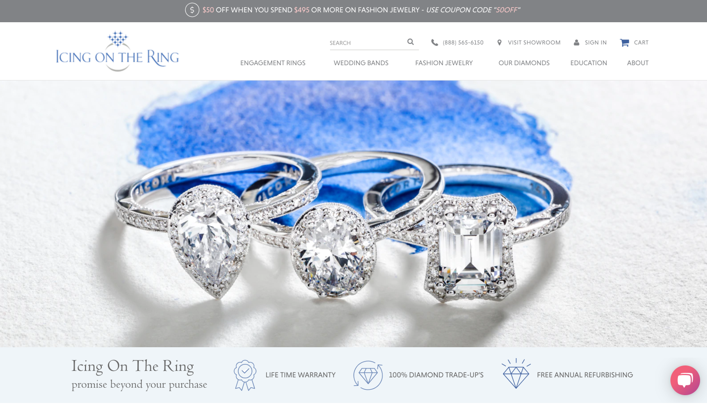 jewelry online icing on the ring home