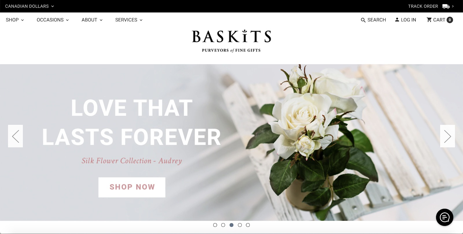 baskits store example
