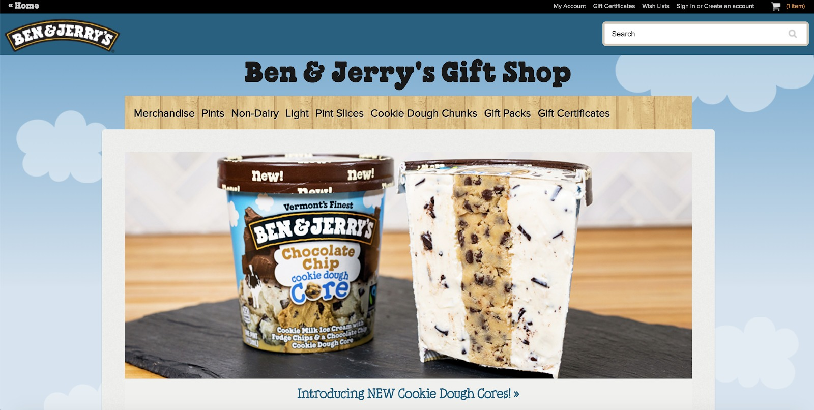 ben and jerrys store example