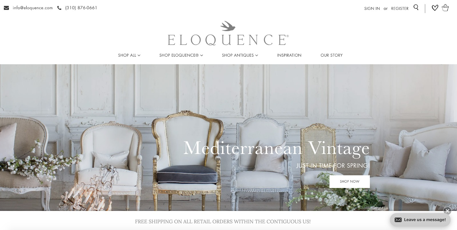 eloquence store example