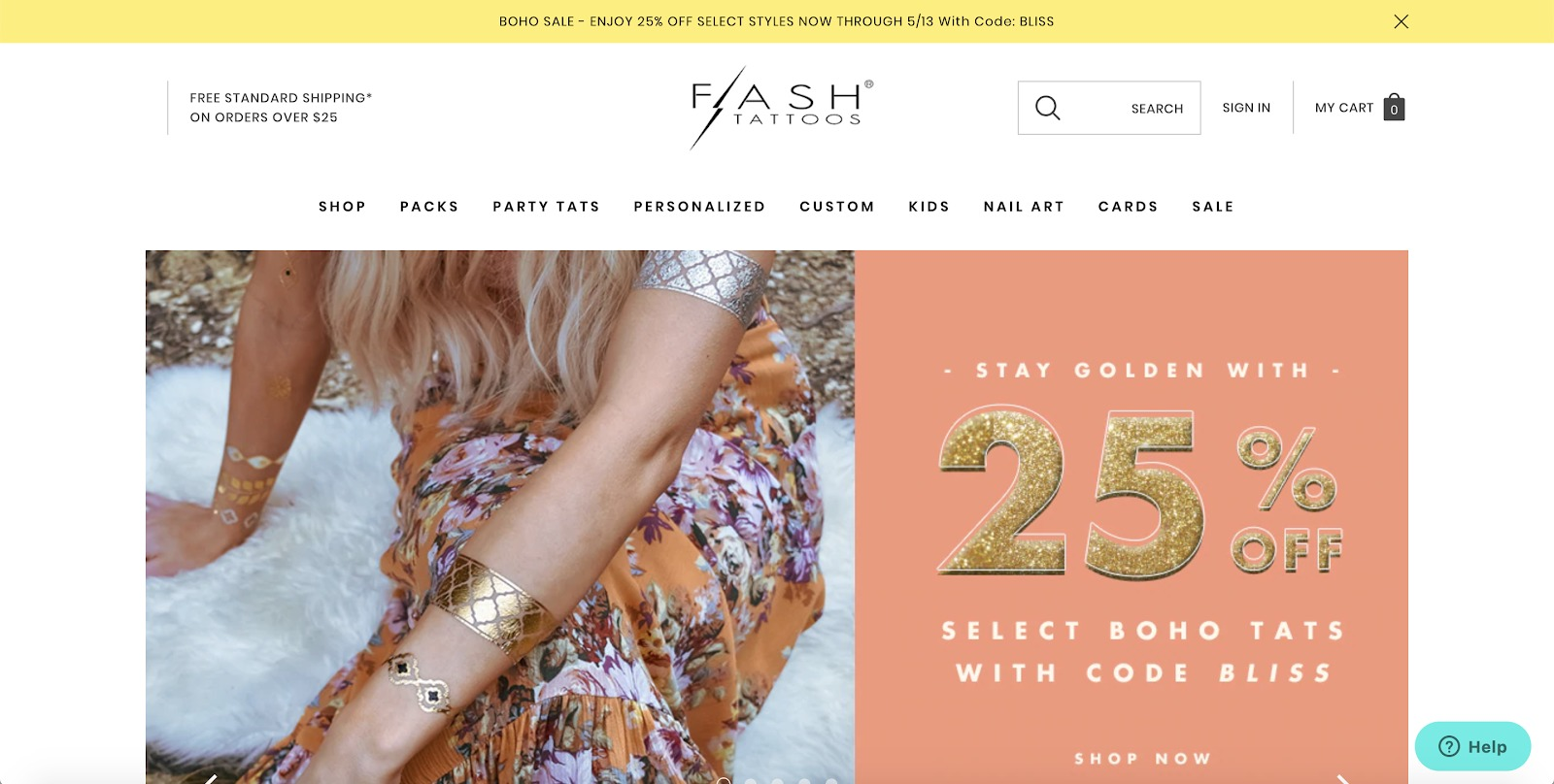 flash tattoos store example