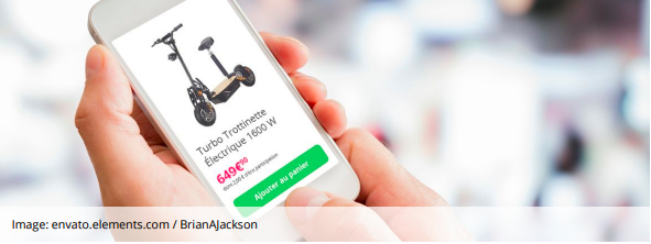 french mobile ecommerce example