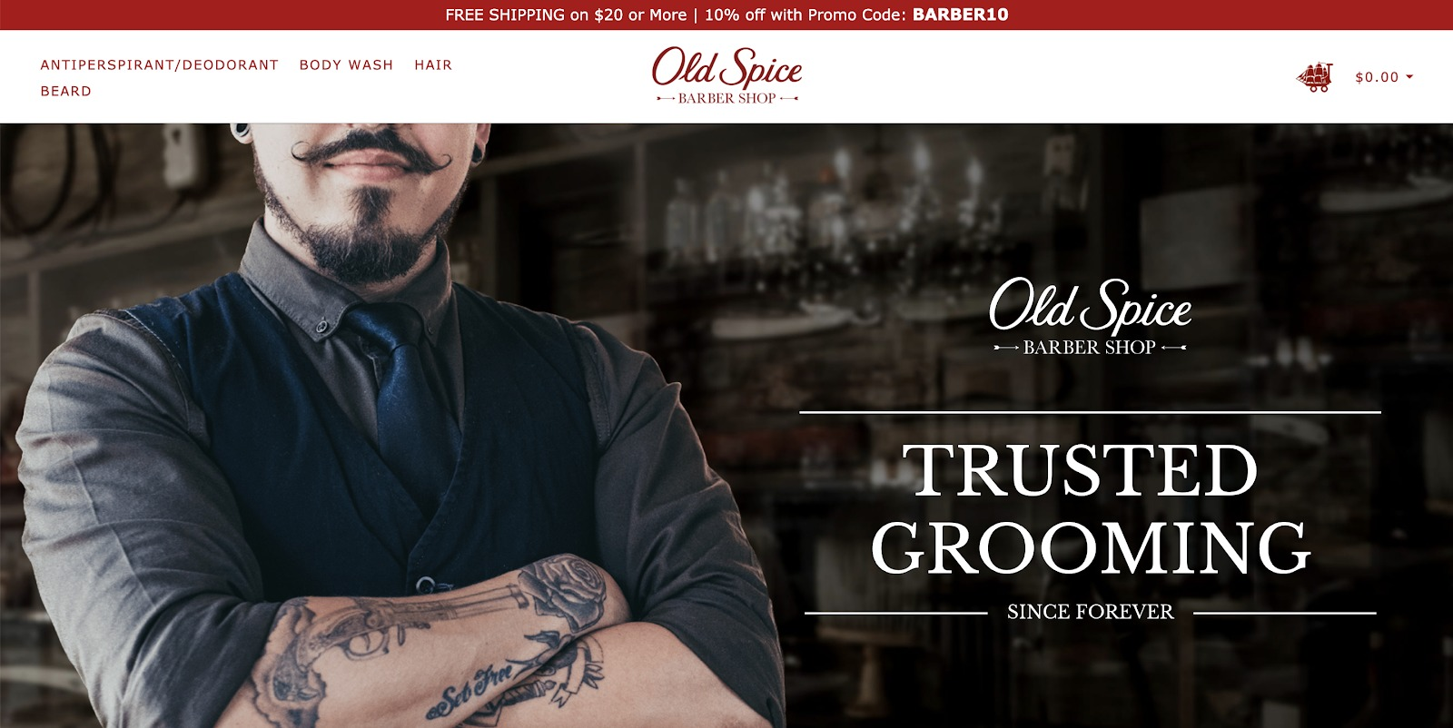 old spice barber shop store example