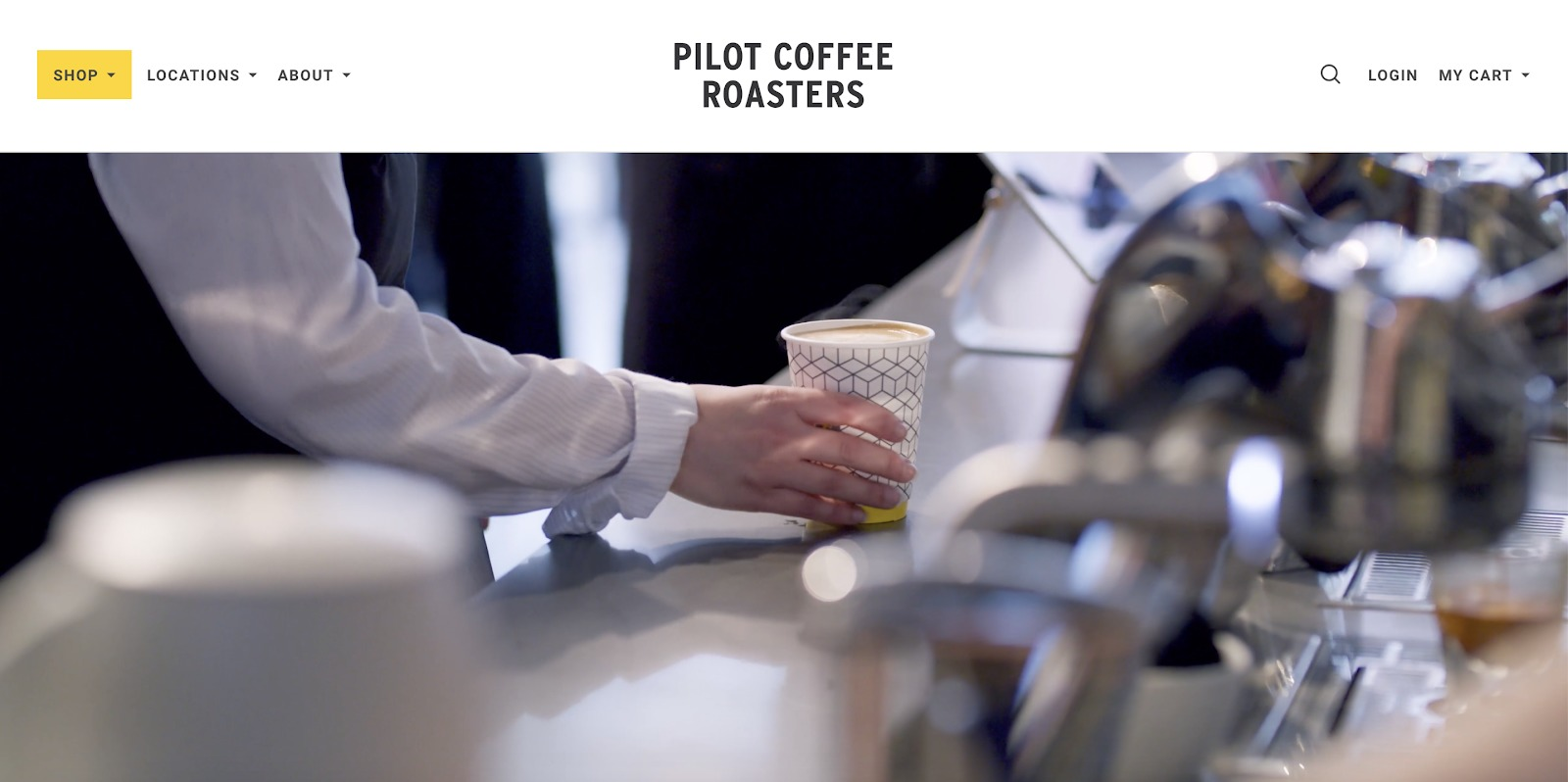 pilot coffee roasters store example