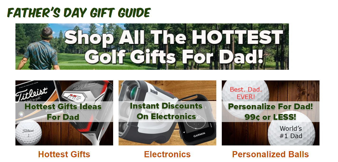 rock bottom golf fathers day gift guide
