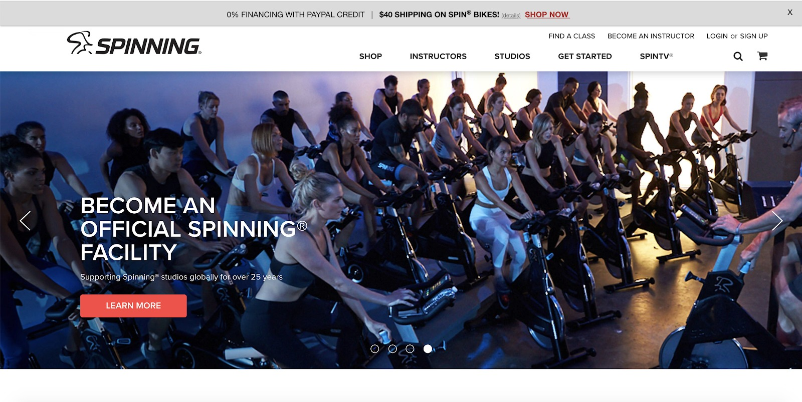spinning store example
