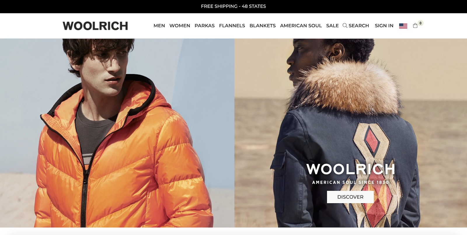 woolrich store example