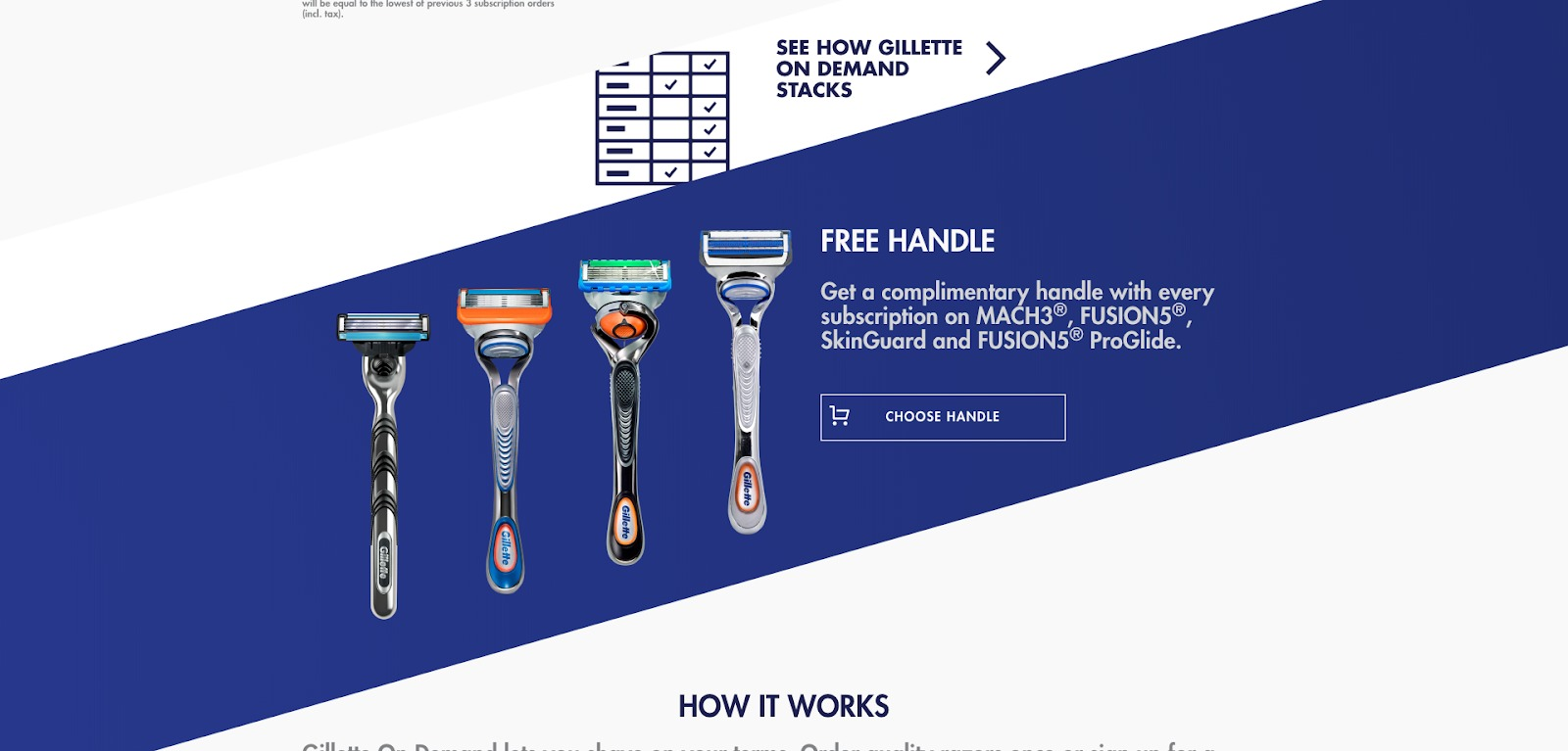 Gillette homepage