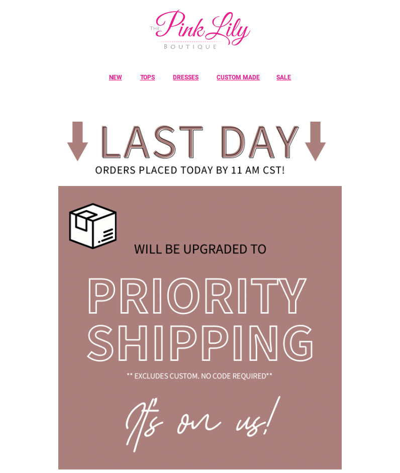 Pink Lily Shipping Example