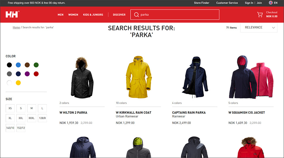 Visual search interface