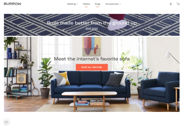 Burrow homepage