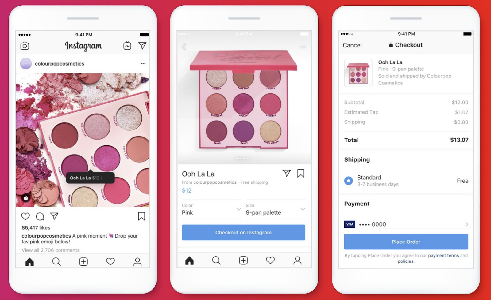 Instagram Checkout Example