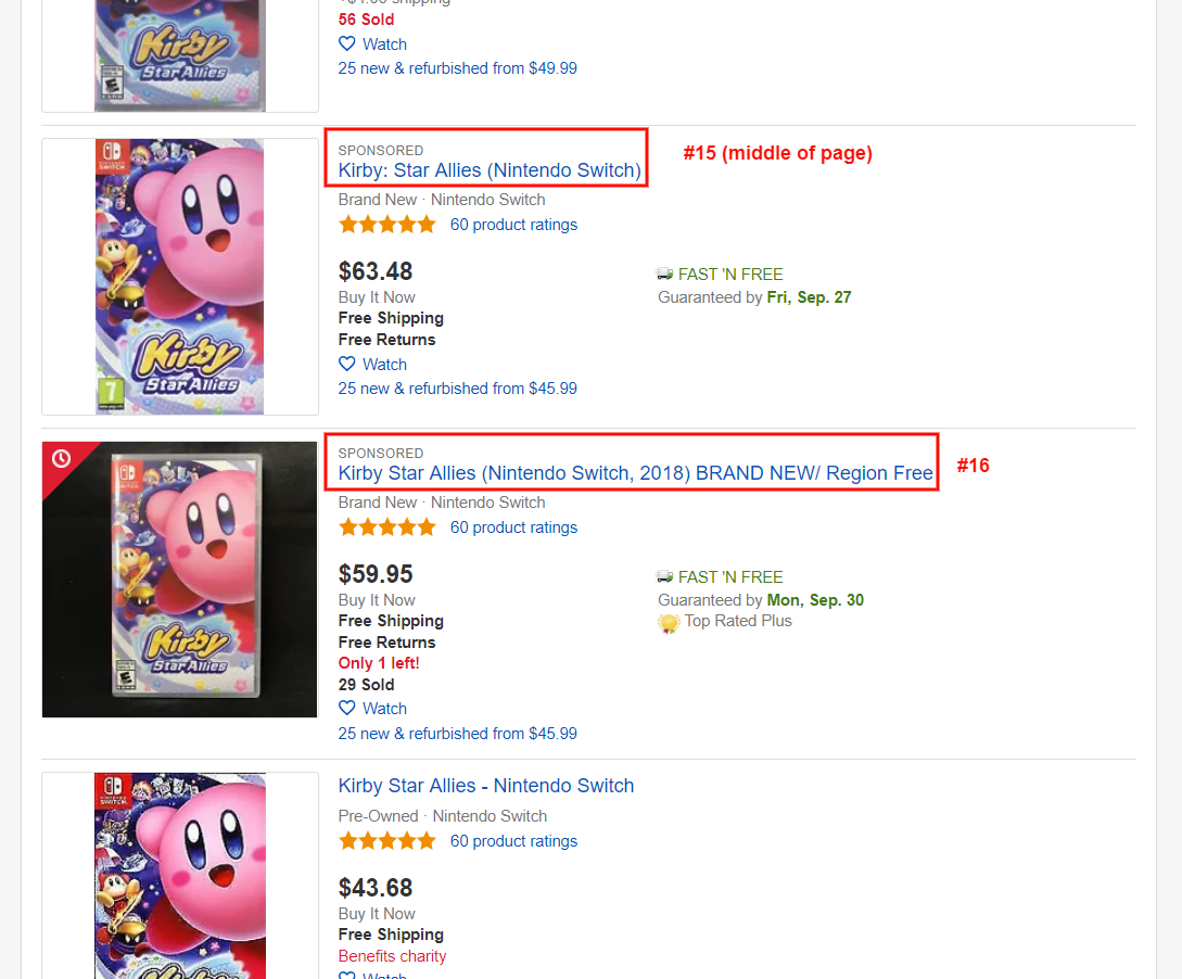 ebay promoted listing example middle of page
