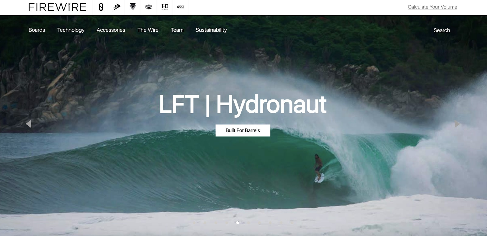 firewire surfboards homepage example