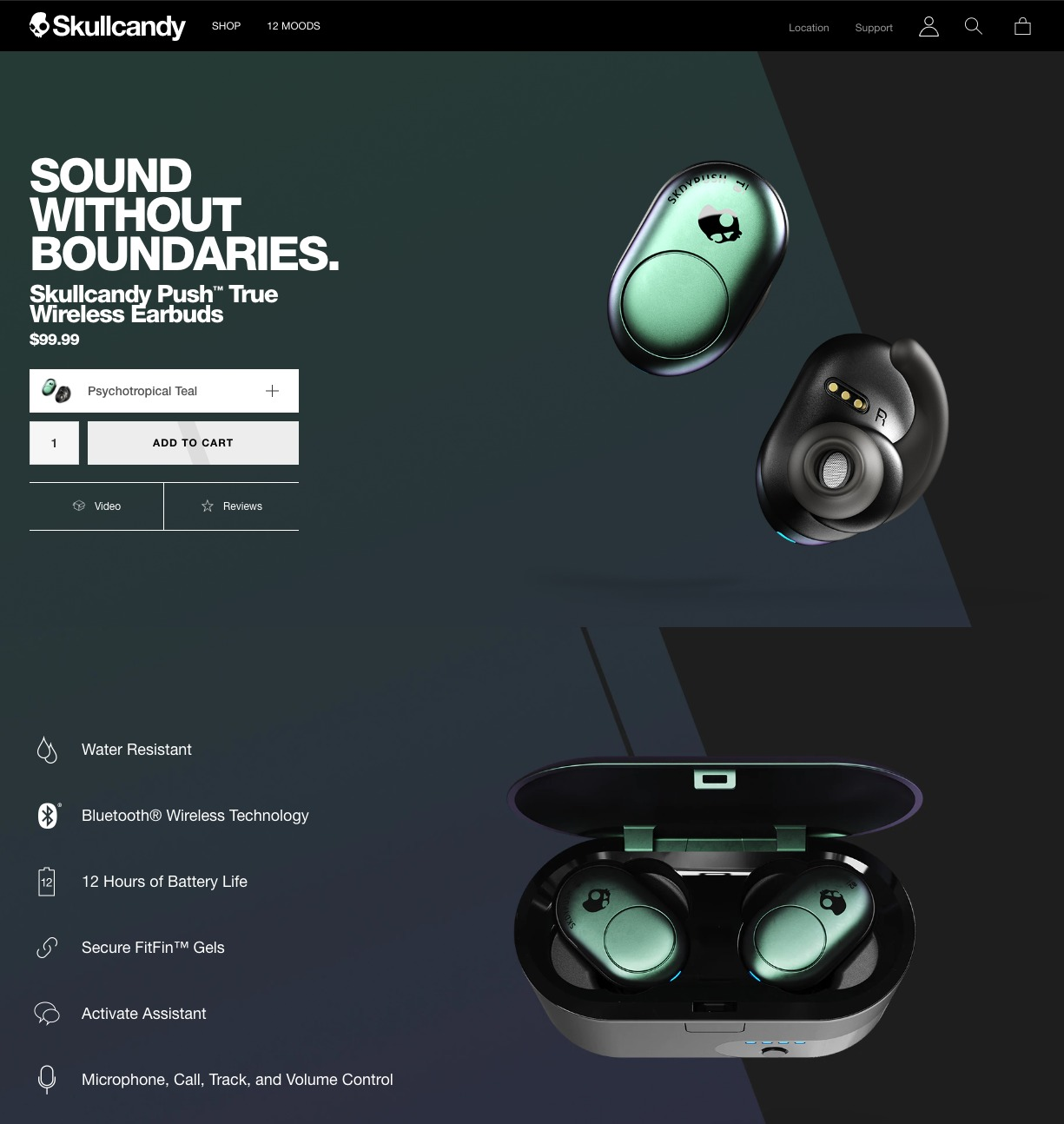 Skullcandy product page