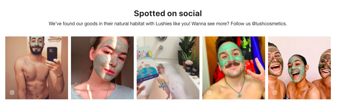 Lush Mask UGC visual proof gallery