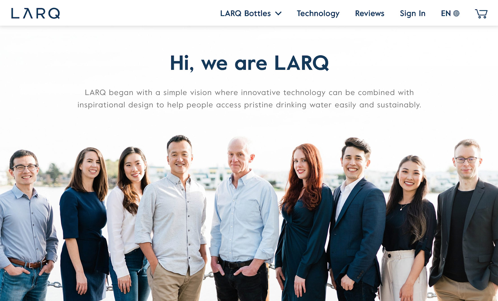 Larq About us page