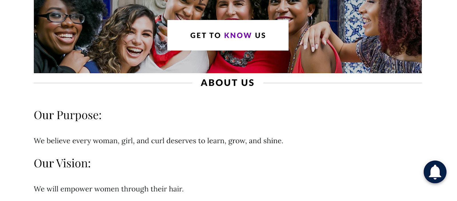 Naturally Curly About us page