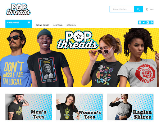 Pop Threads Online Boutique