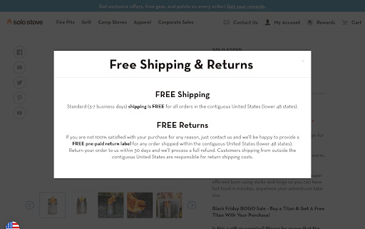 Solo stove free shipping