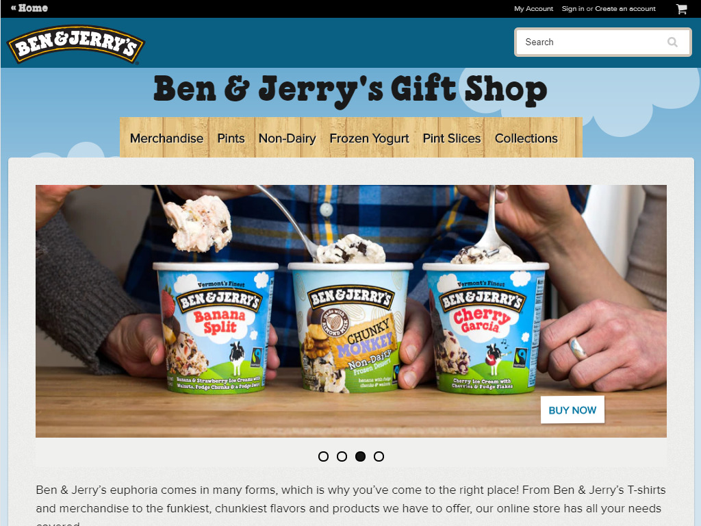 Ben and jerry example